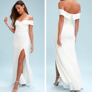 Lulu's Song Of Love White Maxi Dress